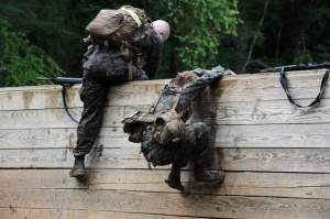 Hey Girl, forget your pack?  Photo c/o Marine Corps Times